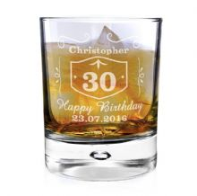 Classic Whisky Style Bubble Glass